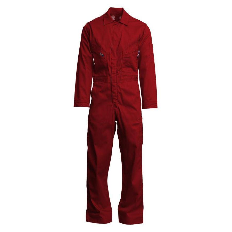LAPCO FR CVFRD7RE Red 7oz. FR Deluxe Coveralls