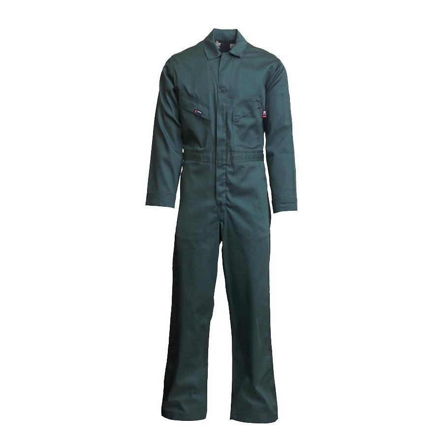 LAPCO FR CVFRD7SG Spruce Green 7oz. FR Deluxe Coveralls