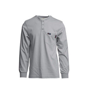 LAPCO FR FRT-HJE-GRY Gray 7oz. FR Henley Tees