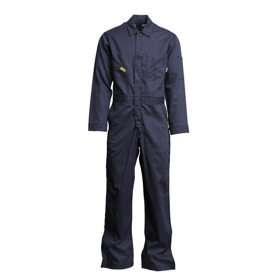 LAPCO FR GOCD7NY Navy 7oz. FR Deluxe Coveralls - Fire Retardant Shirts.com