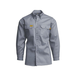 LAPCO FR GOS6GY Gray 6oz. FR Uniform Shirts