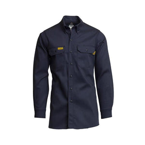 LAPCO FR GOS7NY Navy 7oz. FR Uniform Shirt