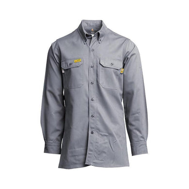 LAPCO FR GOSAC7GY Gray 7oz. FR Uniform Shirts - Fire Retardant Shirts.com