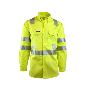 LAPCO FR IHV7C3 Hi-Viz Class-3 7oz. FR Uniform Shirts - Fire Retardant Shirts.com