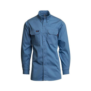 LAPCO FR IMB7 Medium Blue 7oz. FR Uniform Shirts - Fire Retardant Shirts.com