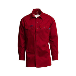 LAPCO FR IRE7 Red 7oz. FR Uniform Shirts - Fire Retardant Shirts.com
