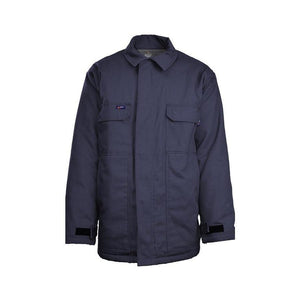LAPCO FR JCFRWS9NY Navy 9oz. FR Insulated Chore Coats with Windshield Technology