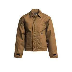 LAPCO FR JTFRWS9BR Brown 9oz. FR Insulated Jackets with Windshield Technology