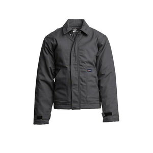 LAPCO FR JTFRWS9GY Gray 9oz. FR Insulated Jackets with Windshield Technology