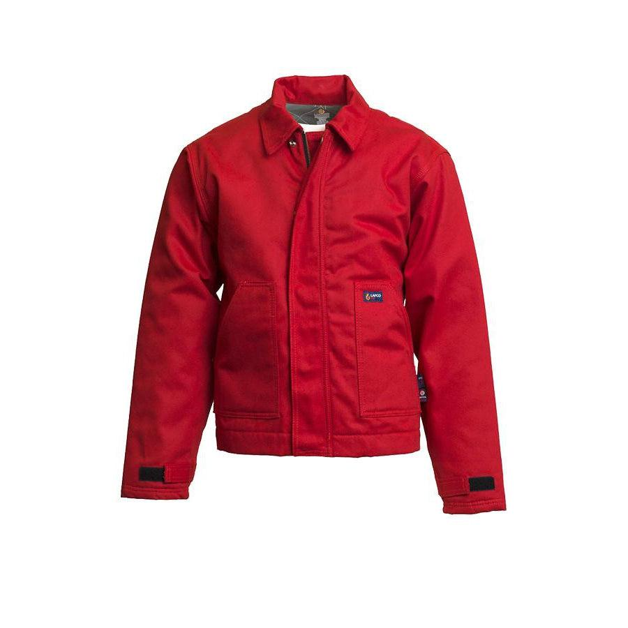 LAPCO FR JTFRWS9RE Red 9oz. FR Insulated Jackets with Windshield Technology