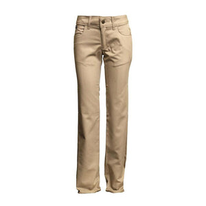 LAPCO FR L-PFRACKH Khaki 7oz. Ladies FR Uniform Pants - Fire Retardant Shirts.com