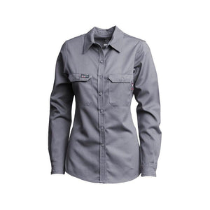 LAPCO FR L-SFRACGY Gray 7oz. Ladies FR Uniform Shirts