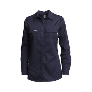 LAPCO FR L-SFRACNY Navy 7oz. Ladies FR Uniform Shirts