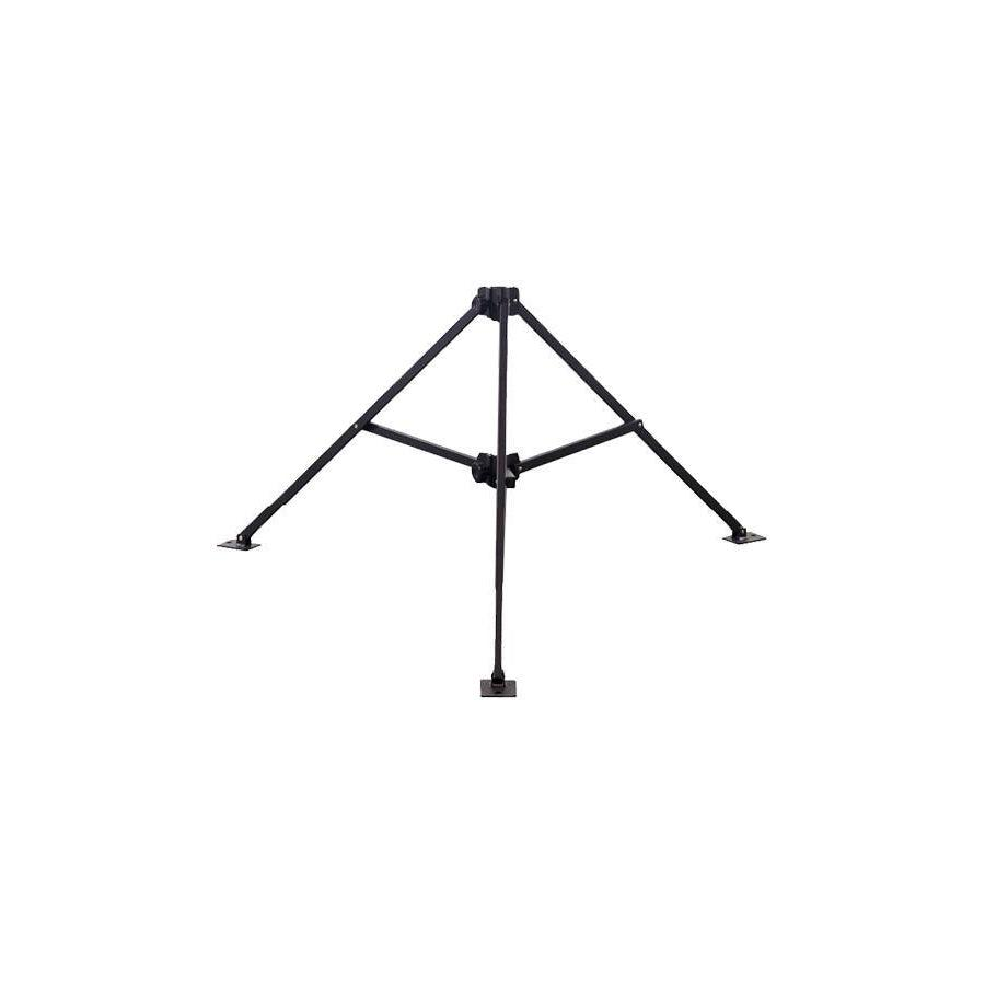LAPCO FR LAP-UMST Black Heavy-Duty Tripod Umbrella Stands - Fire Retardant Shirts.com