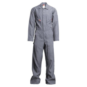 LAPCO FR NXCD45GY Gray 4.5oz. FR Deluxe Coveralls - Fire Retardant Shirts.com