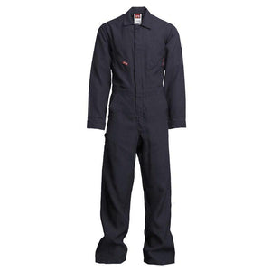 LAPCO FR NXCD45NY Navy 4.5oz. FR Deluxe Coveralls - Fire Retardant Shirts.com