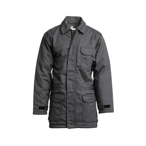 LAPCO FR PKFRGYDK Gray 12oz. FR Insulated Parkas - Fire Retardant Shirts.com