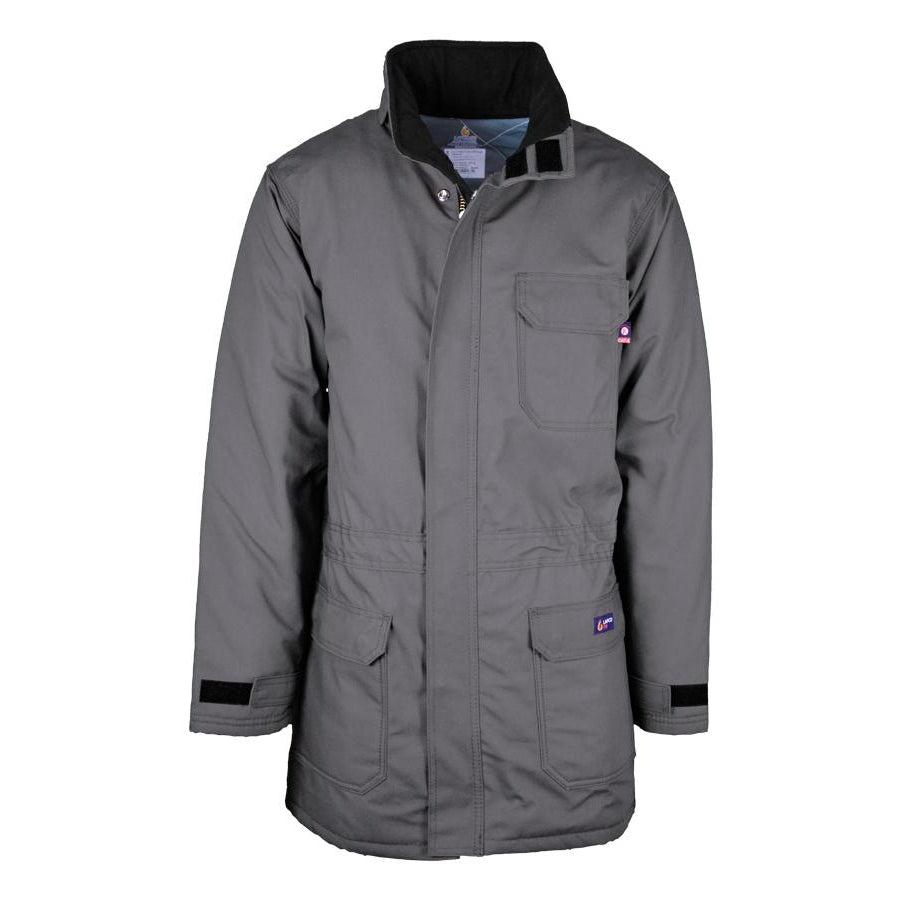 LAPCO FR PKFRWS9GY Gray FR Insulated Parka with Windshield Technology