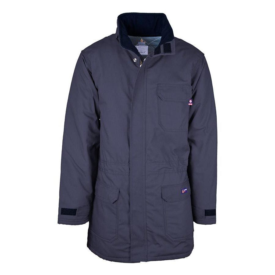 LAPCO FR PKFRWS9NY Navy FR Insulated Parka with Windshield Technology