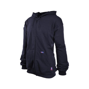 LAPCO FR SWHFR14ZNY Navy 12oz. FR Full Zip Sweatshirt - Fire Retardant Shirts.com