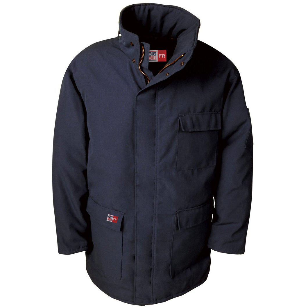 Big Bill FR M300US7-NAY Navy Parka Arctic Jacket - Fire Retardant Shirts.com