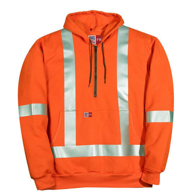 Big Bill FR RT26IT14-ORA Orange Hi-Vis Zip-Up Sweatshirt
