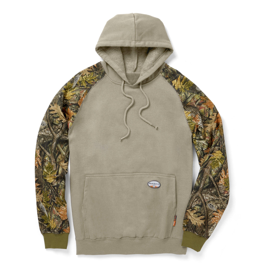 Rasco FR FR6202WC/KH Woodland Camo/Khaki Hooded Sweatshirt