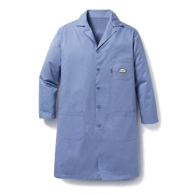 Rasco FR FR5603WB Work Blue Lab Coat