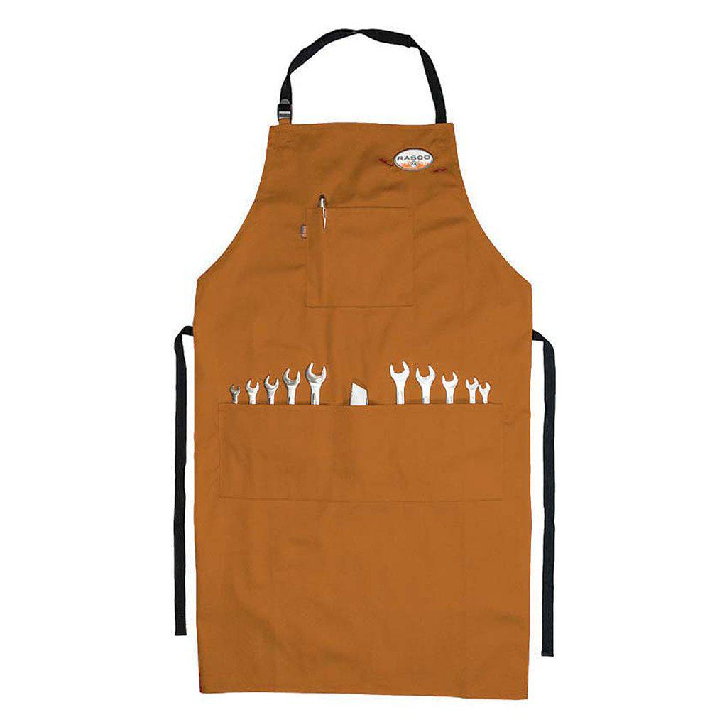 Rasco FR BAFR54 Brown Duck FR Welding Aprons - Fire Retardant Shirts.com