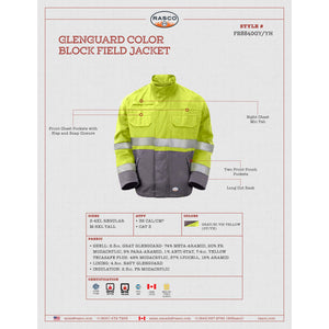 Rasco FR FR8840GY/YH GlenGuard Color Block Field Jacket