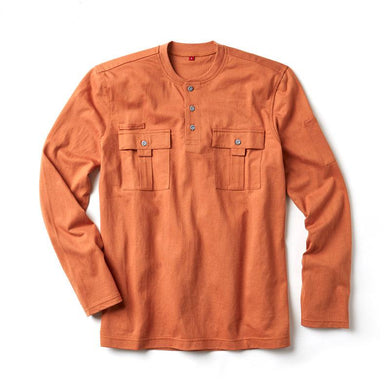 Rasco FR FR0613BO Burnt Orange Utility Henley T-Shirt - Fire Retardant Shirts.com