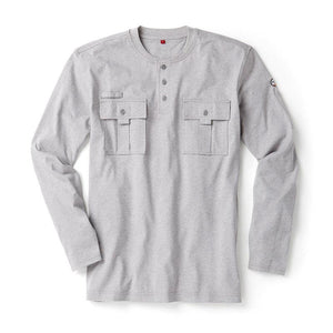 Rasco FR FR0613GY Heather Gray Utility Henley T-Shirt