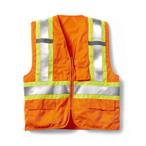 Rasco Non-FR HV005OH Hi-Vis Orange Zip Front Vest