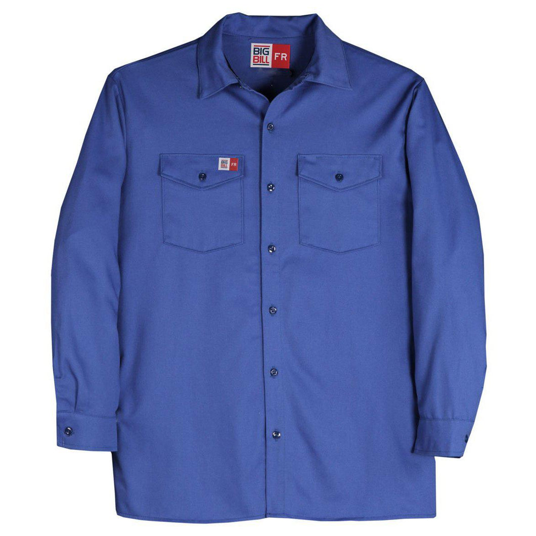 Big Bill FR TX231US7-BLR Royal Blue Industrial Work Shirt - Fire Retardant Shirts.com