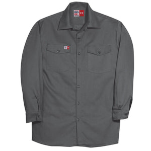Big Bill FR TX231US7-CHA Charcoal Industrial Work Shirt - Fire Retardant Shirts.com
