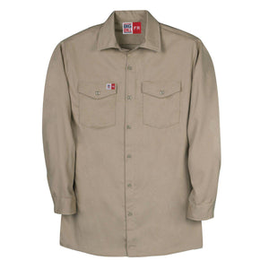Big Bill FR TX231US7-KAK Khaki Industrial Work Shirt