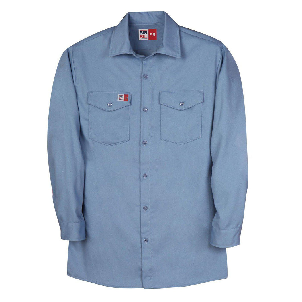 Big Bill Fr Tx231us7 Lbl Light Blue Industrial Work Shirt
