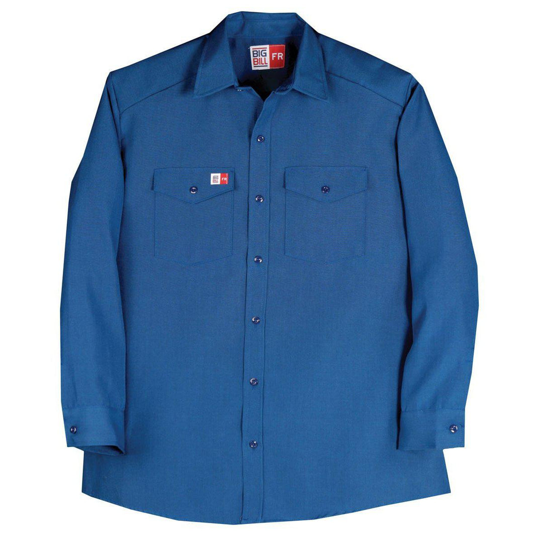 Big Bill FR TX290N4-BLR Royal Blue Dress Shirt - Fire Retardant Shirts.com