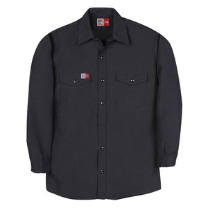 Big Bill FR TX290N4-NAY Navy Dress Shirt - Fire Retardant Shirts.com