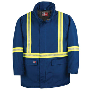 Big Bill FR V305N5-BLR Royal Blue Parka Arctic Jacket with Reflective Material - Fire Retardant Shirts.com