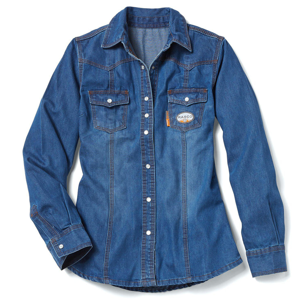 Rasco FR FR52021DN Women's Denim Shirt
