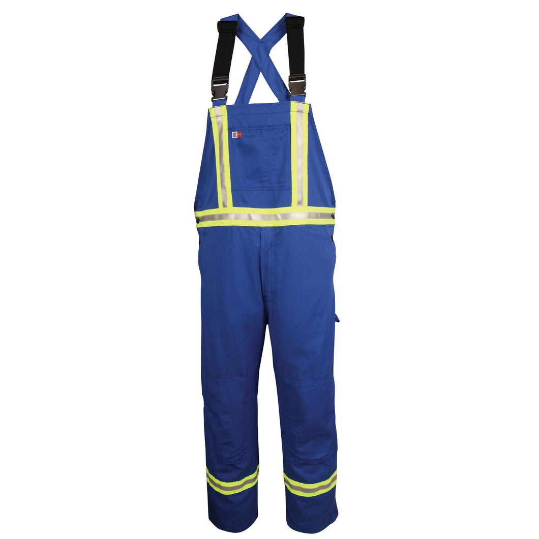 Big Bill FR 189US7-BLR Royal Blue Unlined Reflective Bib Overall - Fire Retardant Shirts.com