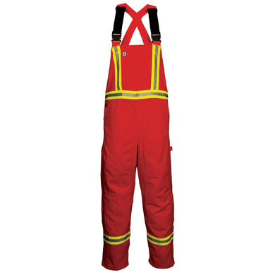 Big Bill FR 189US7-RED Red Unlined Reflective Bib Overall - Fire Retardant Shirts.com
