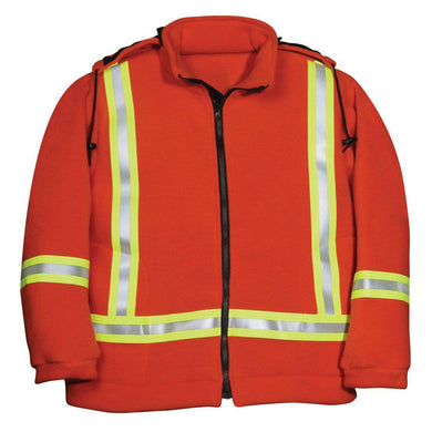 Big Bill FR BK460PTF-ORA Orange Fleece High-Vis Jacket - Fire Retardant Shirts.com