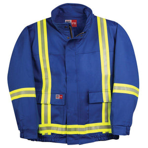 Big Bill FR L495US9-BLR Royal Blue Unlined Jacket with Reflective Material - Fire Retardant Shirts.com