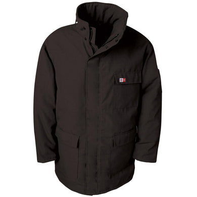 Big Bill FR M300US7-BLK Black Parka Arctic Jacket - Fire Retardant Shirts.com