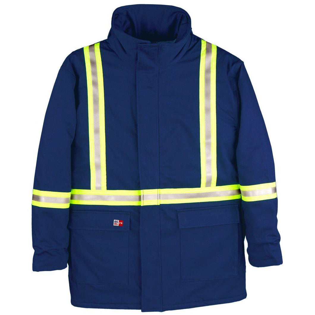 Big Bill FR M305US7-BLR Royal Blue Parka Arctic with Reflective Material - Fire Retardant Shirts.com
