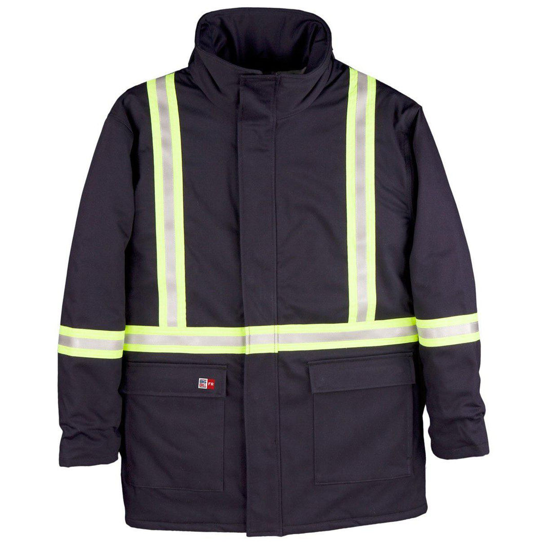Big Bill FR M305US7-NAY Navy Parka Arctic with Reflective Material - Fire Retardant Shirts.com