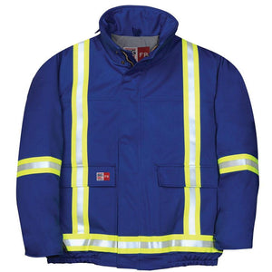 Big Bill FR M405US7-BLR Royal Blue Bomber Jacket with Reflective Material - Fire Retardant Shirts.com