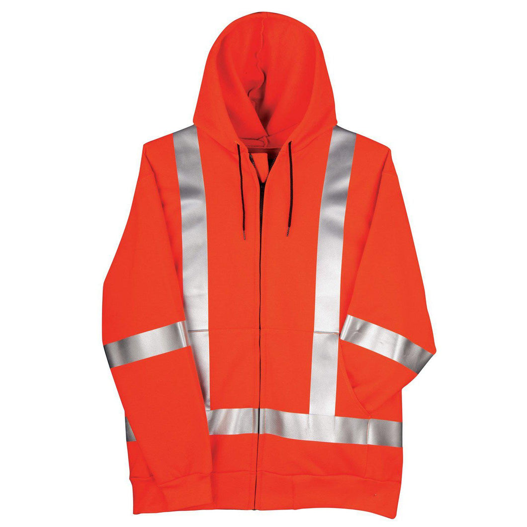 Big Bill FR RT17IT14-ORA Orange Hi-Vis Zip-Up Sweatshirt - Fire Retardant Shirts.com